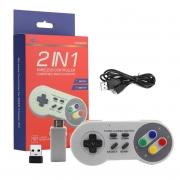 Controle Sem Fio Turbo Classic Mini Nintendo Nes Snes Super Nintendo Computador Notebook