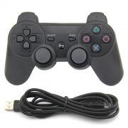 Controle Usb PlayStation 3 Computador PC Notebook Analógico