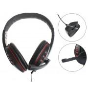 Fone De Ouvido + Microfone Xbox 360 Headset Preto + Vermelho