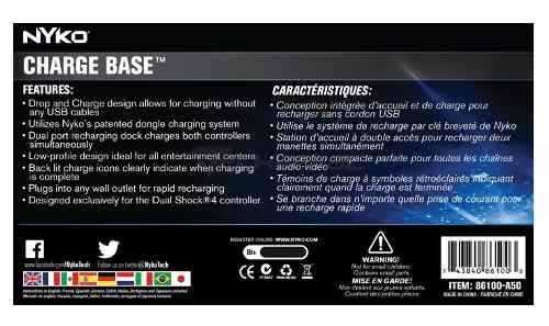 Nyko Charge Base Playstation 4 Carregador P/ Dualshock 4 Ps4