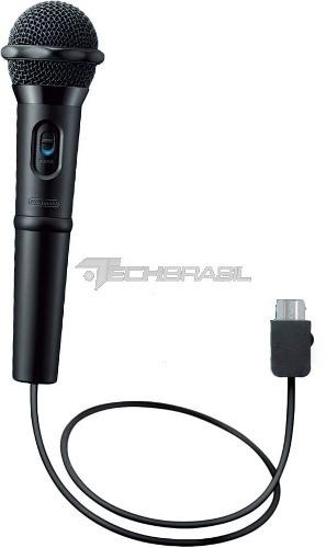 Microfone Para Nintendo Wii U Original Preto
