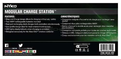 Nyko Modular Charge Station Xbox One Carregador + 2 Baterias