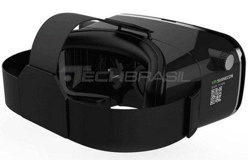 1e8cbb9d26089 ... Oculos Realidade Virtual 3d Vr Shinecon 2.0 Preto + Controle ...