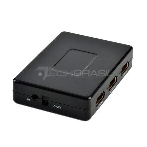 Hub Switch Hdmi 5x1 Controle Remoto Divisor Pc Tv Ps4 Xbox