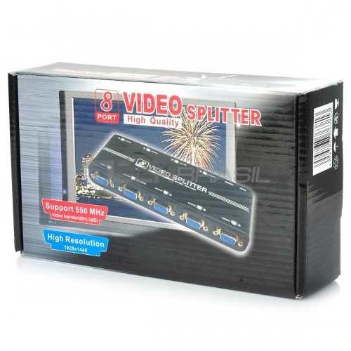 Splitter Distribuidor Divisor Vga 8 Portas 550 Mhz 1920x1440
