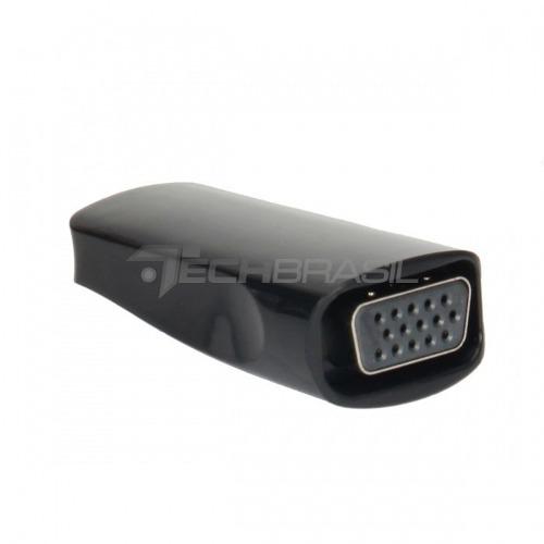 Conversor Adaptador Hdmi P/ Vga Com Audio Chromecast Preto