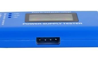 Teste De Fonte Atx Digital Testador Power Supply Tester Azul