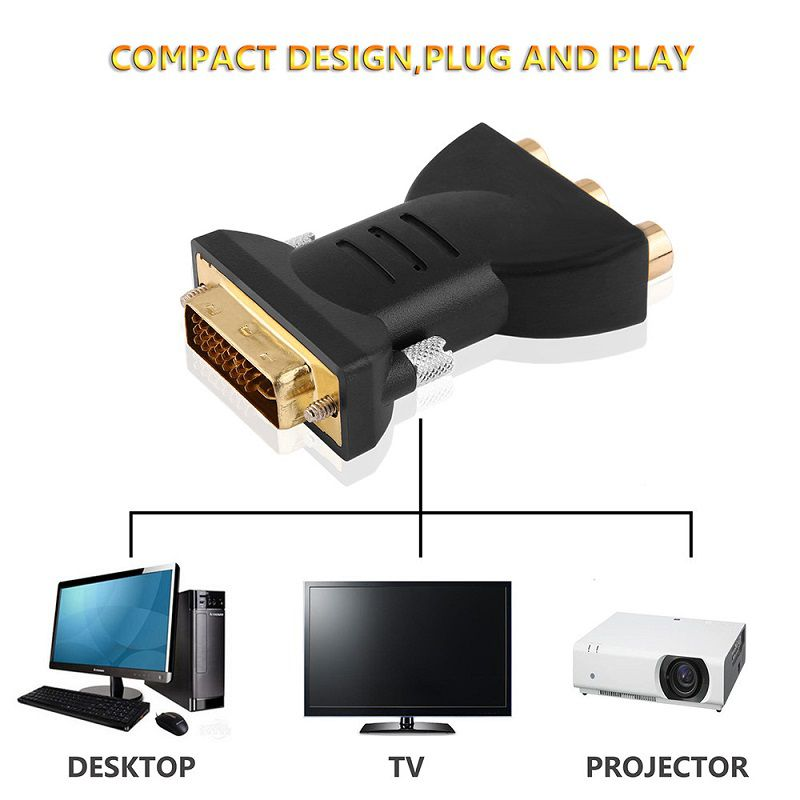 Adaptador Dvi 24+5 Macho Para Video Componente Femea 3rca