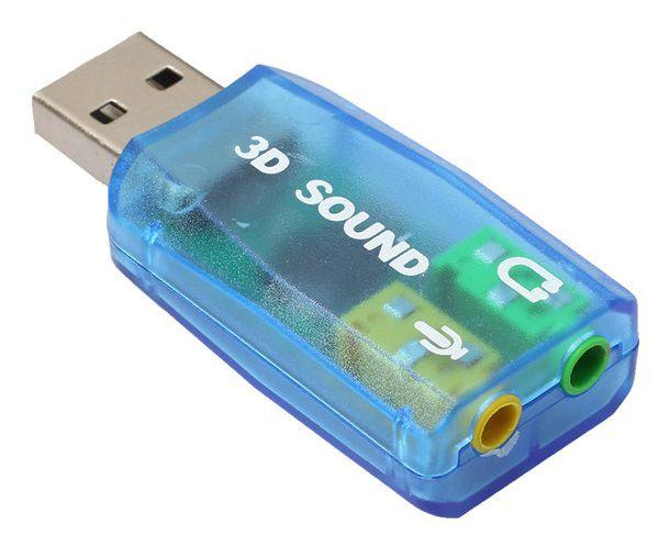 Adaptador Externo De Som Virtual 5.1 Usb Placa De Som Play 3