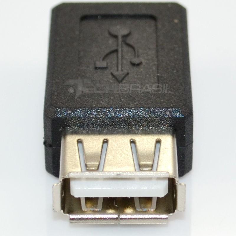 Adaptador Mini USB Fêmea 5 Pinos X USB Fêmea Conector Emenda