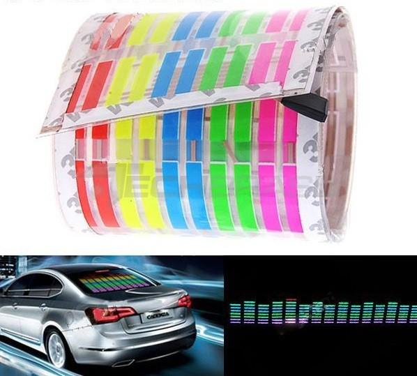 Adesivo Equalizador 12v 45x11cm Painel Led Carro Colorido