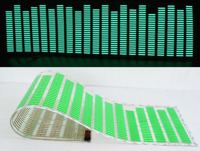 Adesivo Equalizador 12v 70x16cm Painel Led Carro Verde
