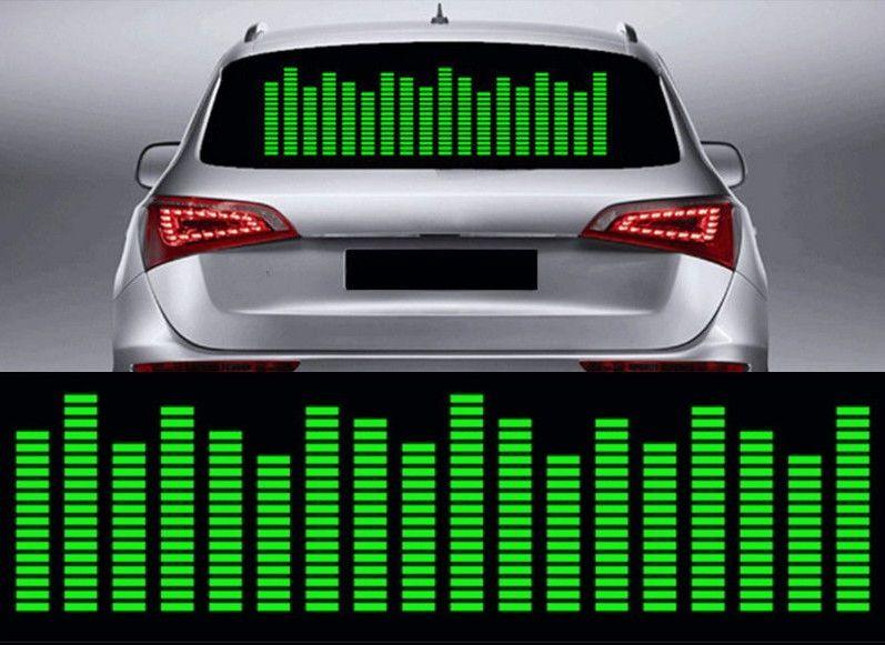 Adesivo Equalizador 12v 90x10cm Painel Led Carro Verde