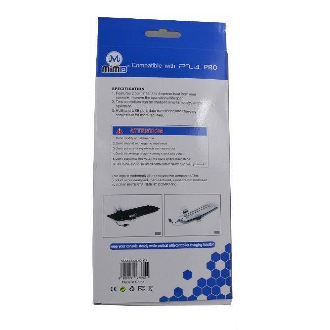 Base Carregador Suporte Playstation 4 Pro Cooler Hub 2 Usb