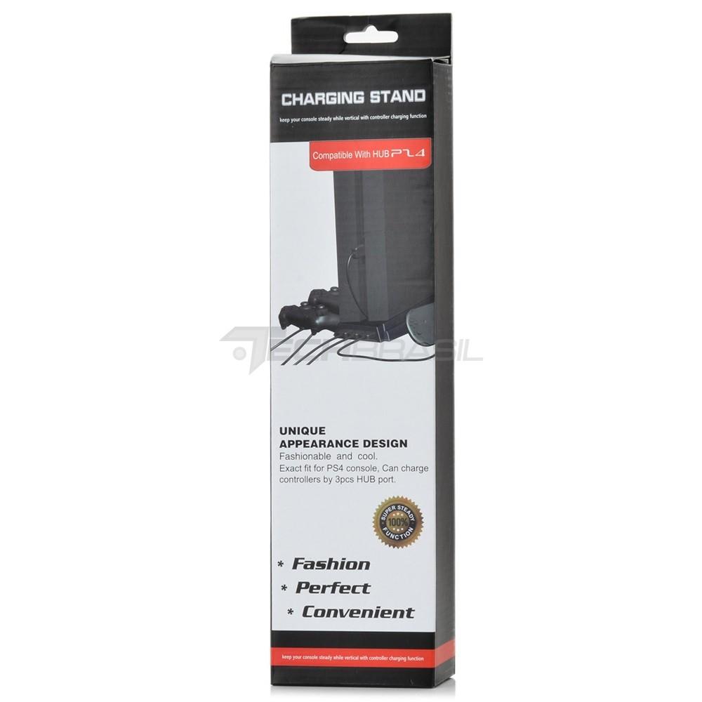 Base Suporte 2 Cooler PlayStation 4 Fat Carregador 3 USB PS4