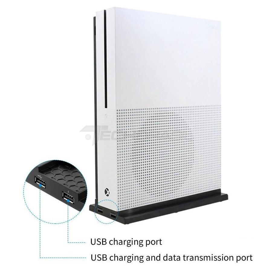 Base Suporte 2 USB Carregador 3 Cooler Xbox One S Slim Preto