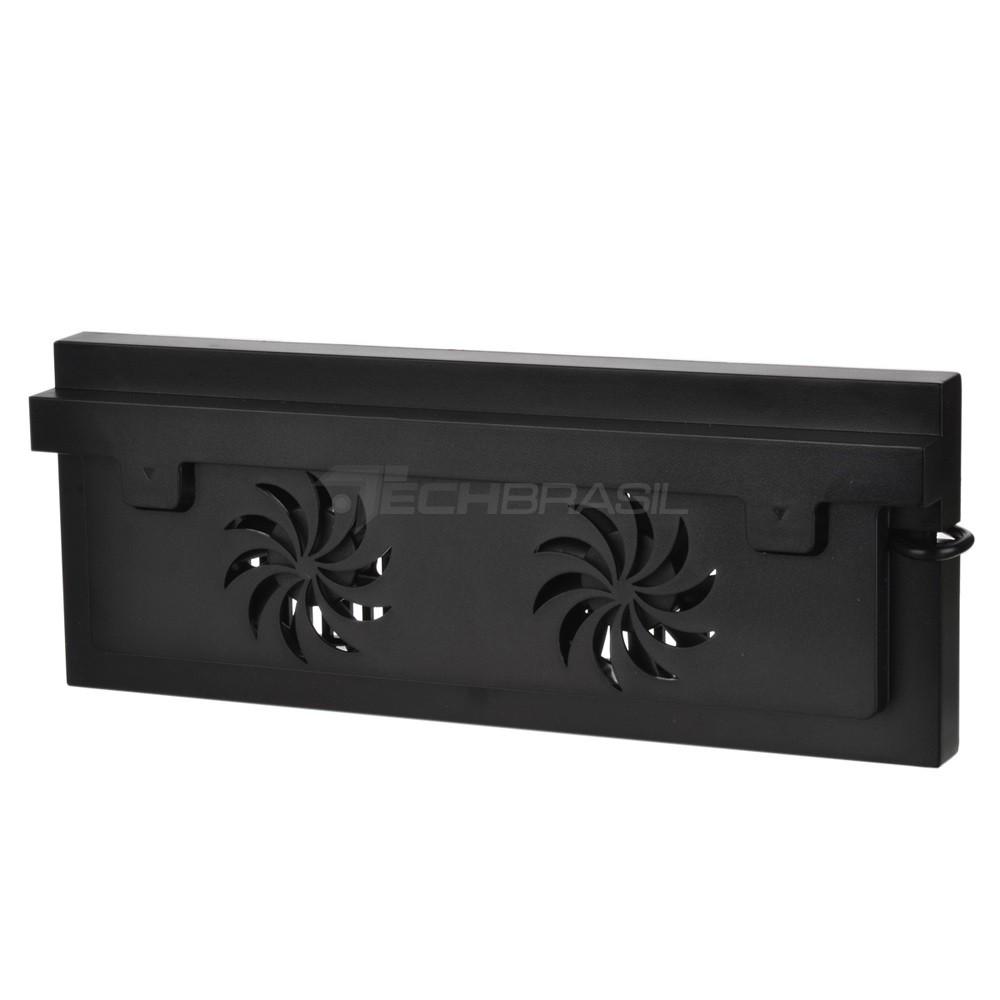 Base Suporte 3 USB Carregador Cooler Xbox One S Preto Slim