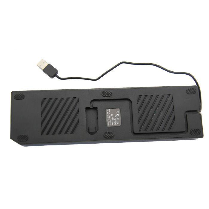Base Suporte Vertical Com 2 Coolers Xbox One X Hub Usb Preto
