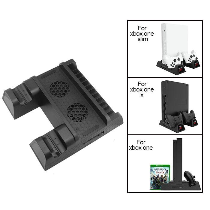 Base Suporte Vertical Xbox One X Slim Fat Cooler Carregador