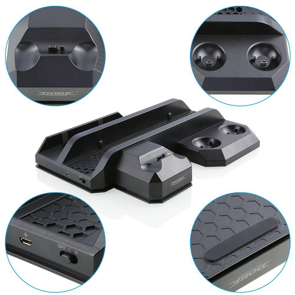 Base Vertical Carregador USB Cooler PS4 Fat Slim Pro VR Move