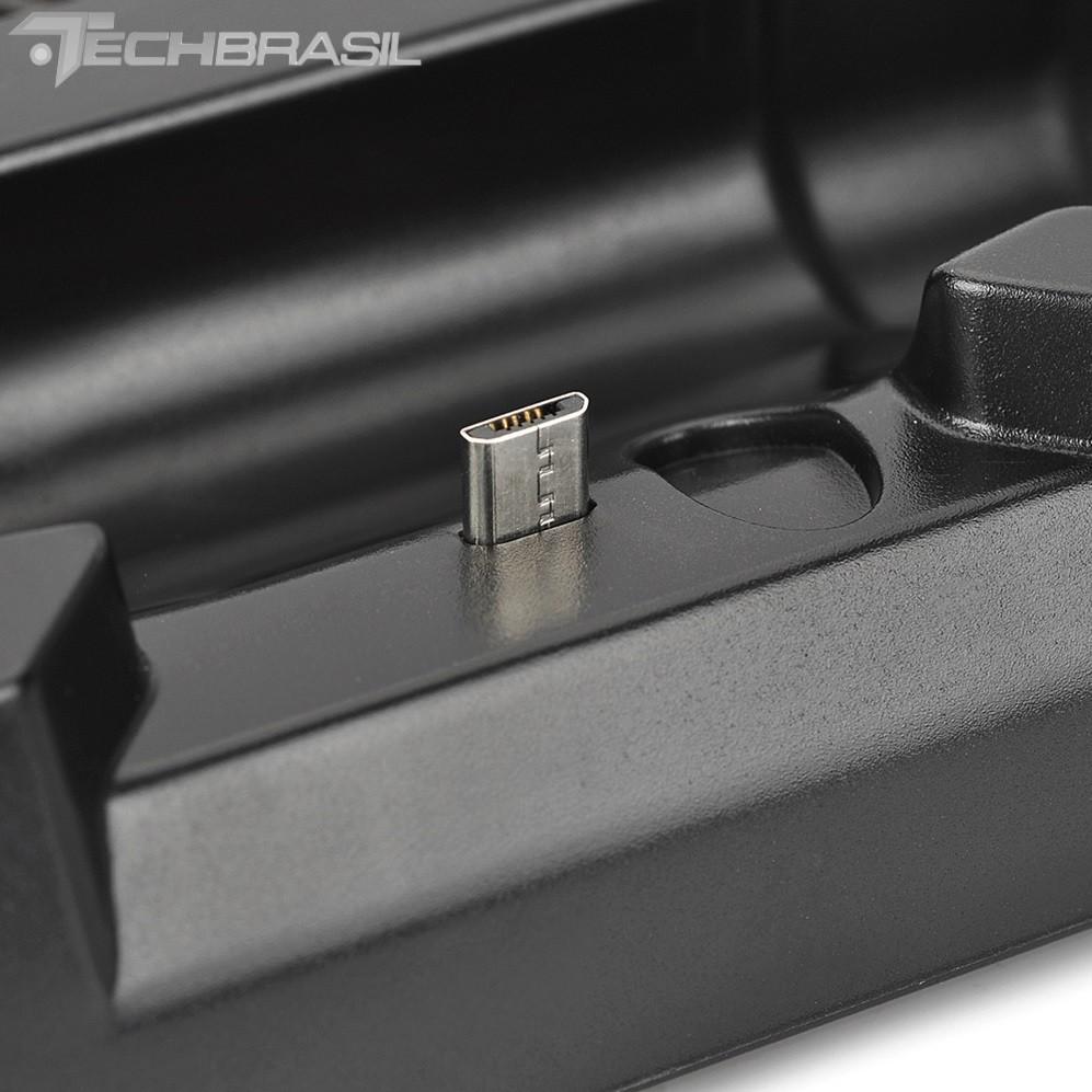 Base Vertical Cooler PlayStation 4 Fat Carregador 4 Controle