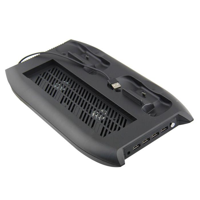 Base Vertical Xbox One X Cooler Carregador Hub Suporte Jogos