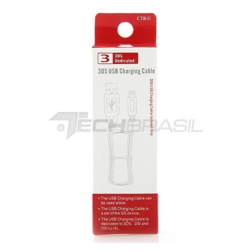 Cabo USB Carregador Para Nintendo DSi, DSi XL, 3DS, Old 3DS, 3DS XL, 2DS, 2DS XL, New 3DS, New 3DS XL