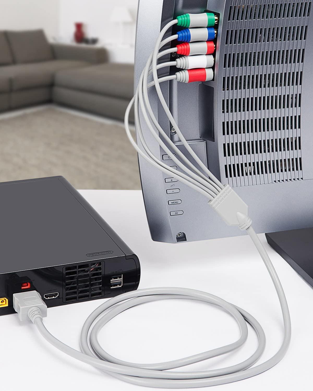 Cabo Vídeo Componente HD Para Nintendo Wii 480P e 720P