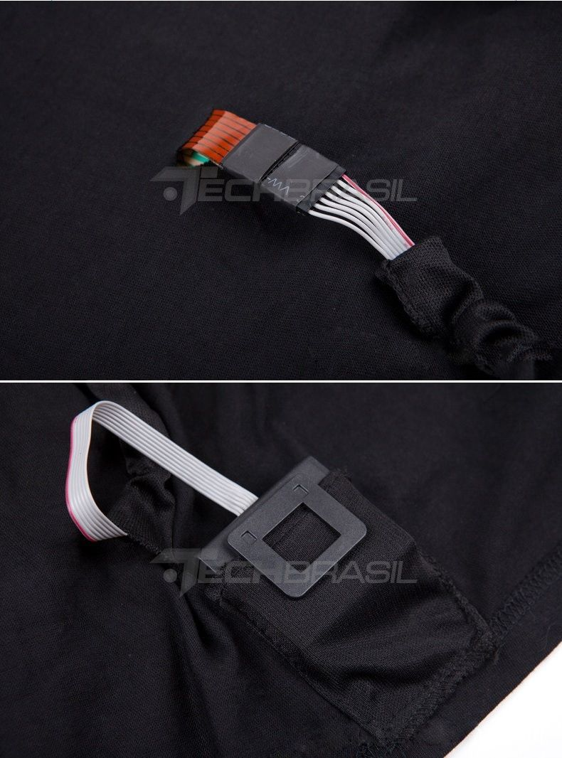 Camiseta LED Eletrônica Sensível Ao Som Pisca Vários Modelos