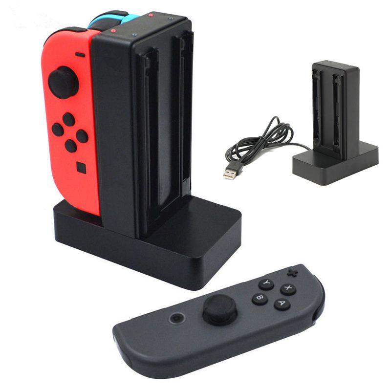 Carregador Nintendo Switch Joy-con 4 Controles Estação Base