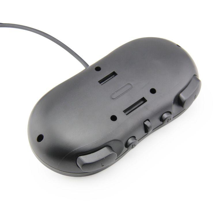 Controle Clássico Classic Nintendo Wii e Wii U Preto
