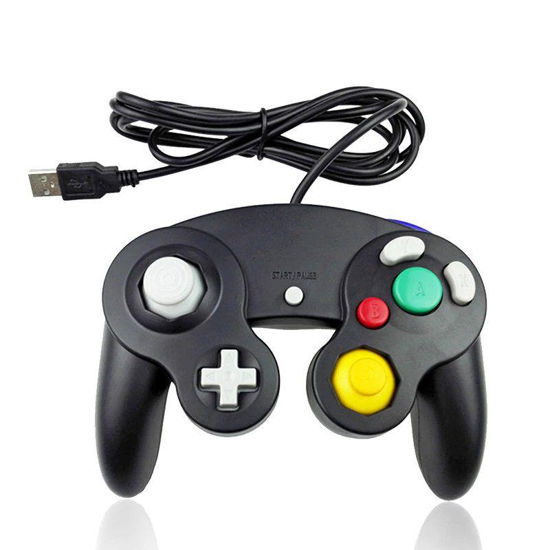 Controle Clássico USB Nintendo Game Cube Computador PC Mac