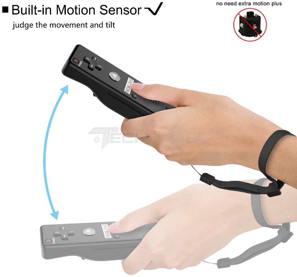 Controle Nintendo Wii Remote Plus + Nunchuck Preto Wii U