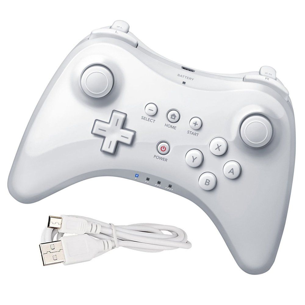 Controle Sem Fio Nintendo Wii U Pro Wireless Bluetooth Branco