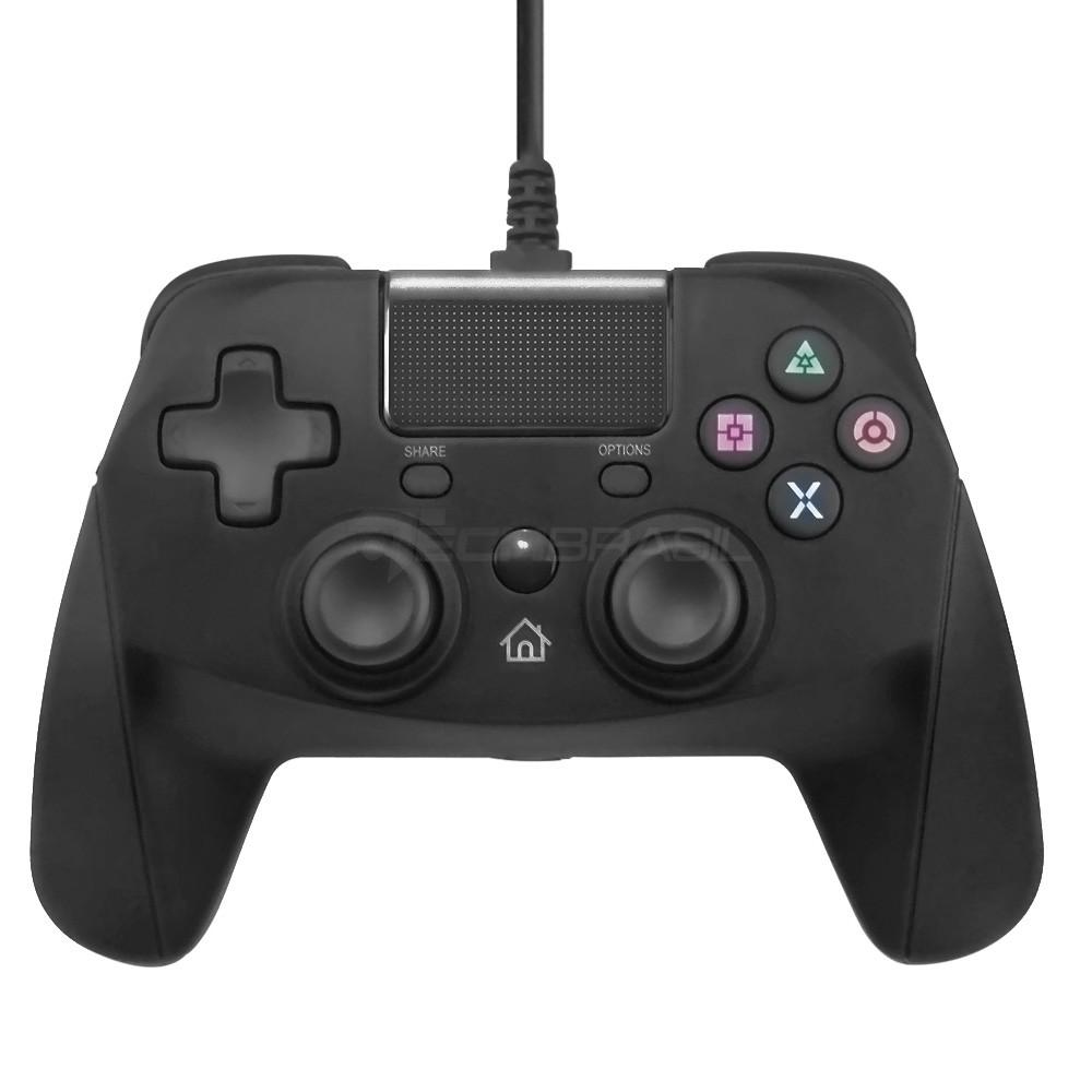 Controle USB Com Fio Para Playstation 4 PS3 Computador Preto