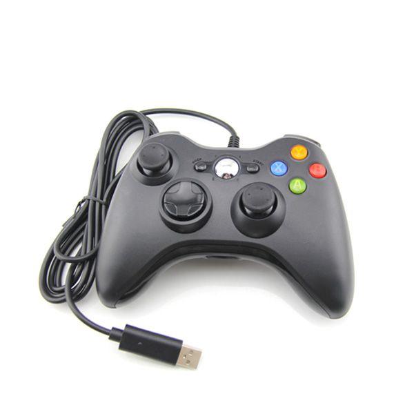Controle Usb Com Fio Xbox 360 Computador PC Notebook Preto
