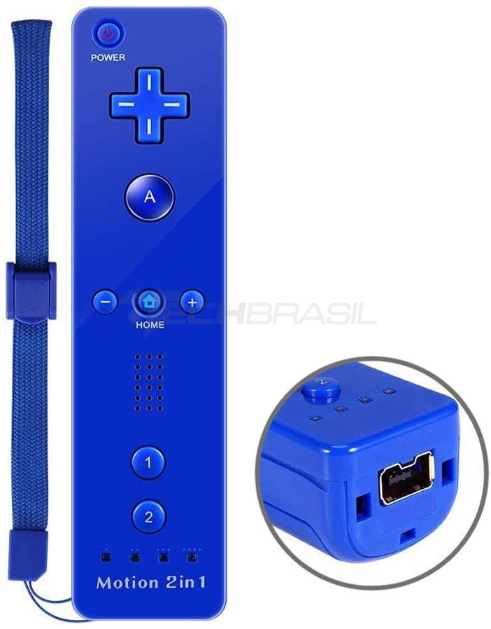 Controle Wii Remote Motion Plus Nintendo Wii Azul Wii U
