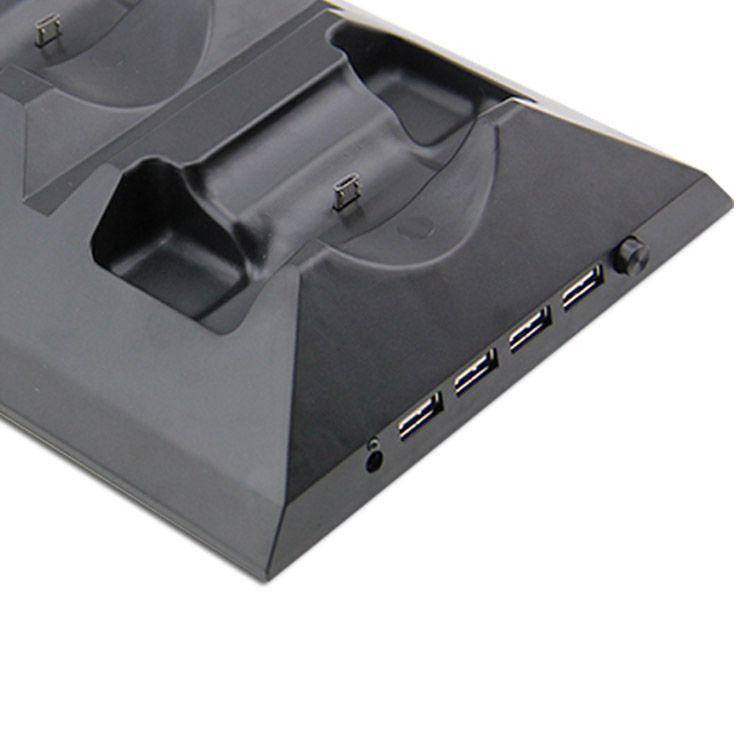 Cooler Exaustor Xbox One Fat Suporte Carregador Hub 4 USB