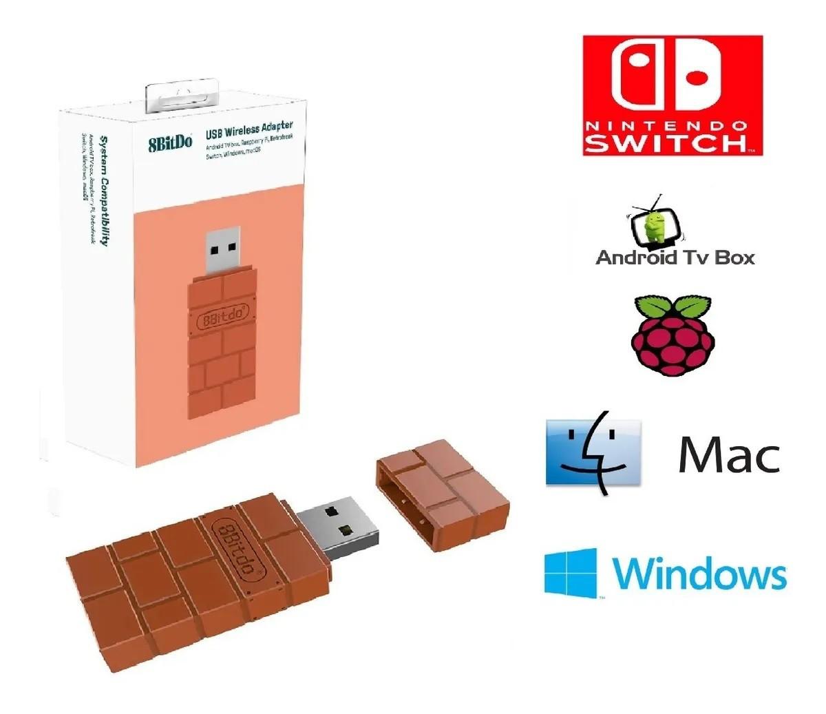 Adaptador De Controle 8bitdo P/ Switch Computador Mac Marrom