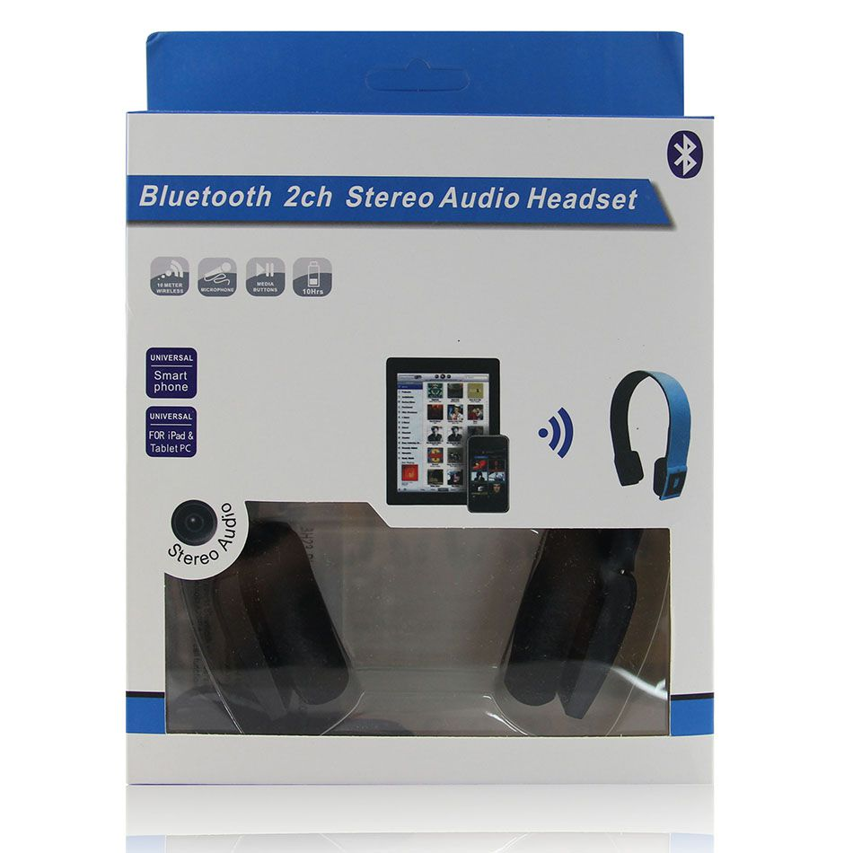 Fone De Ouvido Sem Fio Bluetooth 2ch Estéreo Headphone Preto
