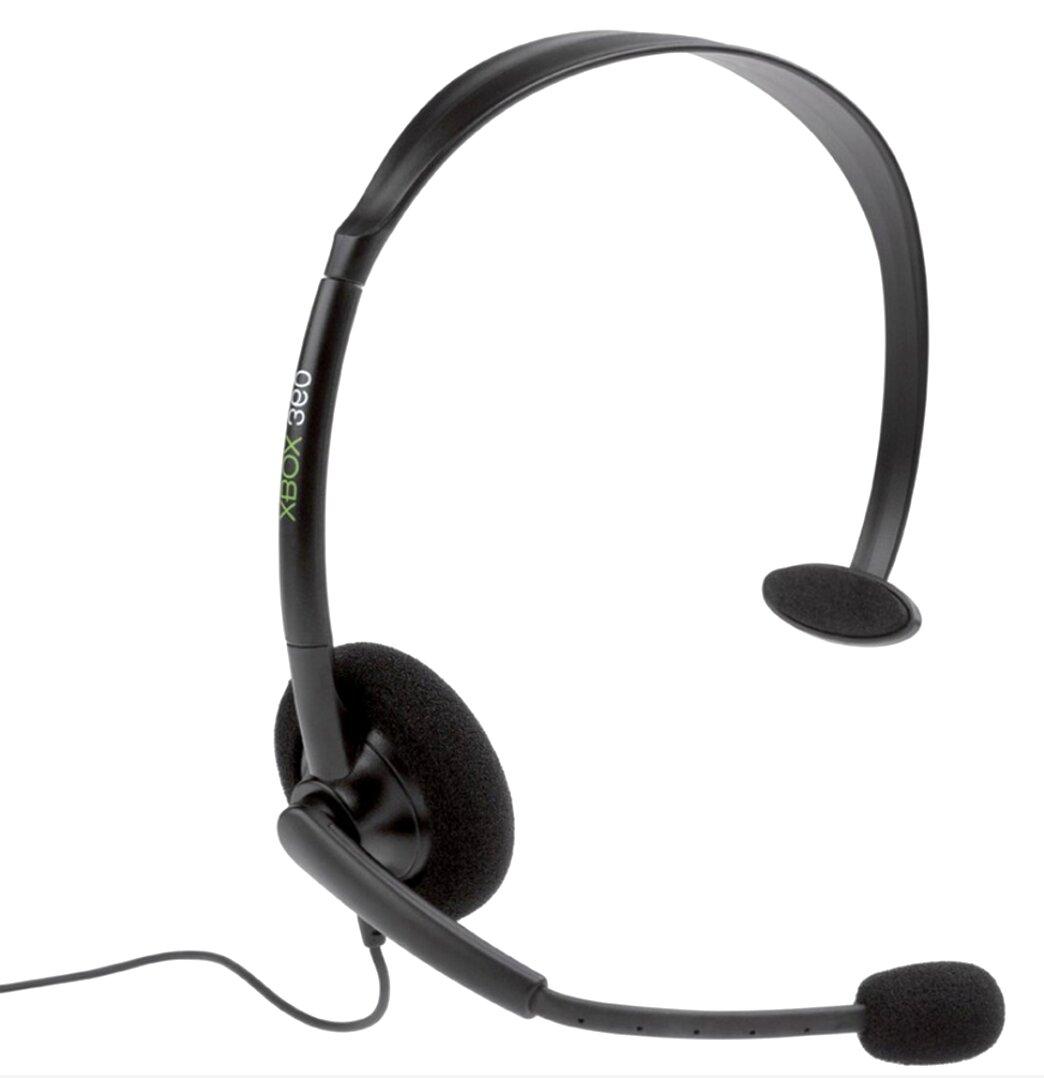 Fone De Ouvido Xbox 360 Slim Original Microfone Headset Preto