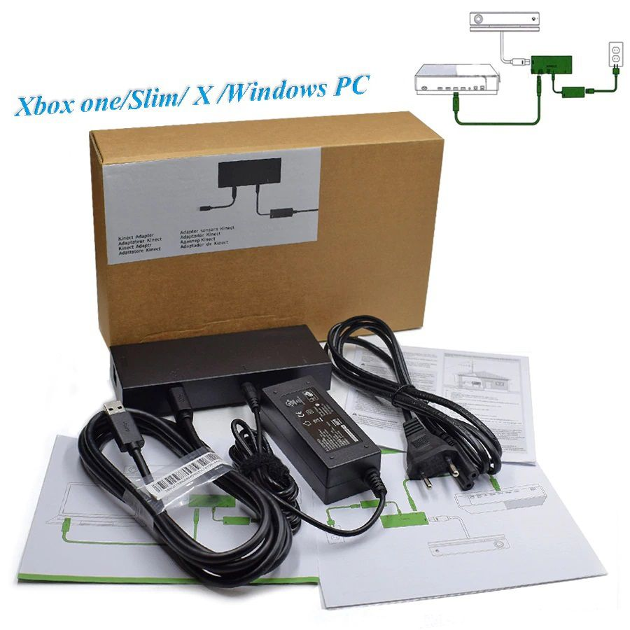 Fonte Adaptador Conector Kinect 2.0 Xbox One S X PC Win 8 10