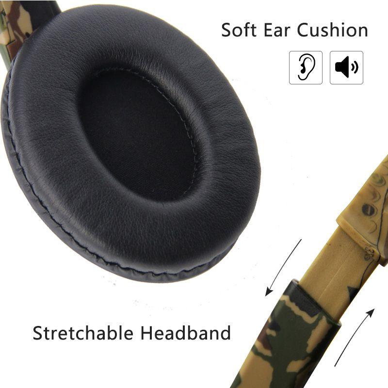 Headset Fone Estéreo Microfone Camuflado Ps4 Switch Xbox Pc Amarelo