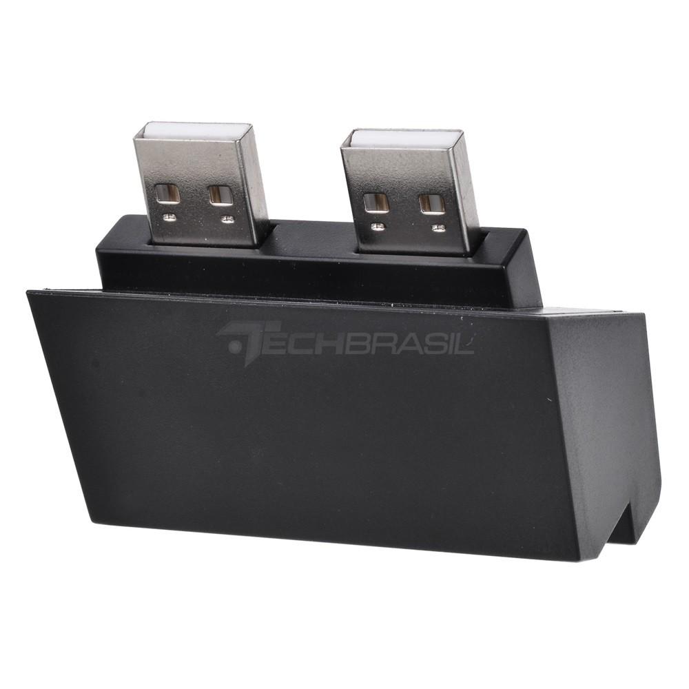 Hub USB 5 Portas Playstation 4 Pro Carregador Adaptador Preto