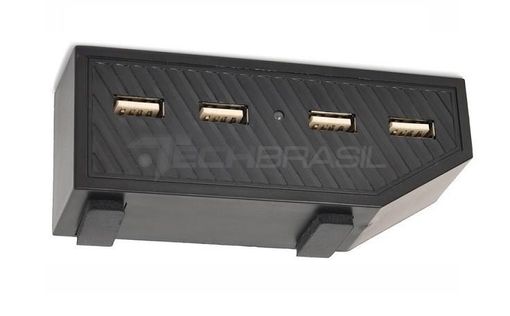 Hub Usb P/ Xbox One 4 Portas Carregador Adaptador Usb Preto