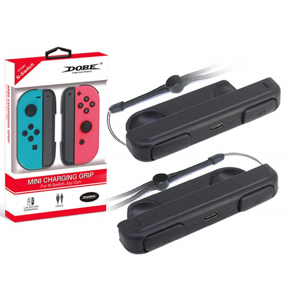 Mini Carregador Grip Controle Joy-con Nintendo Switch Dobe
