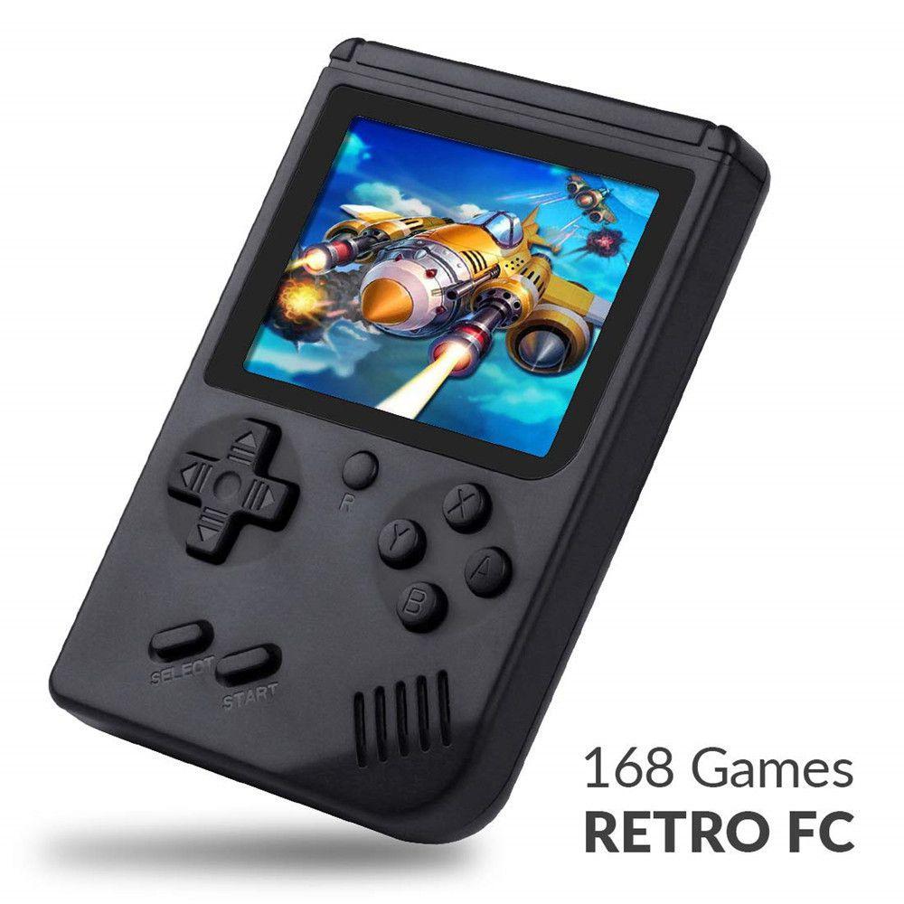 Mini Video Game Portátil 168 Jogos Clássicos 8bit Preto