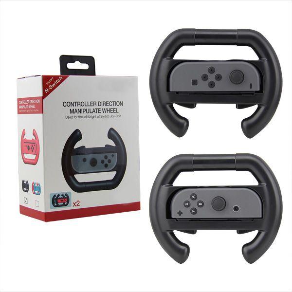 Par Volante Nintendo Switch Controle Joy-con Grip Dobe Preto