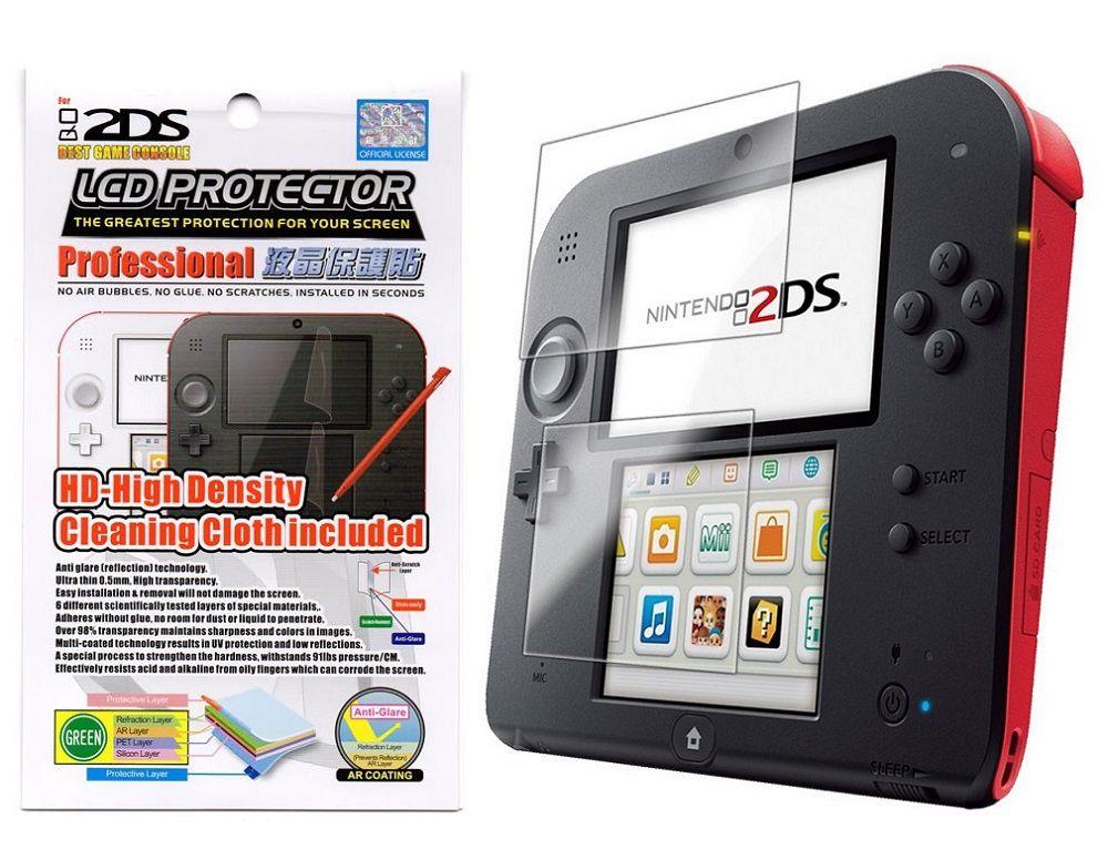 Película Protetora Para Nintendo 2ds - Superior e Inferior