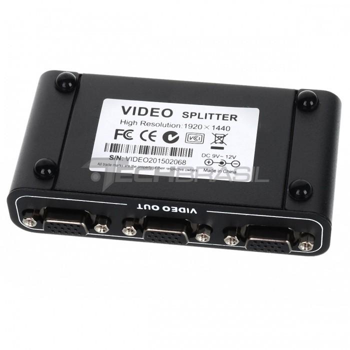 Splitter Distribuidor Divisor Vga 4 Portas 550 Mhz 1920x1440